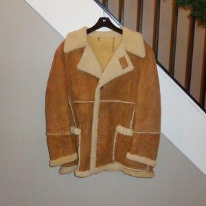 Vintage Shearling Jacket Deerskin Trading Post NUC